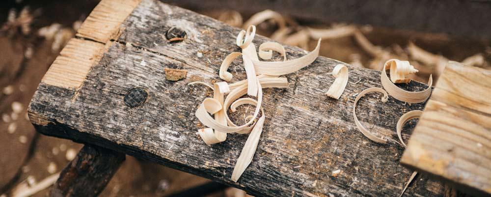 legno grattato